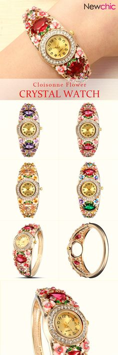 [Newchic Online Shopping] 46%OFF Elegant Cloisonne Women Watch