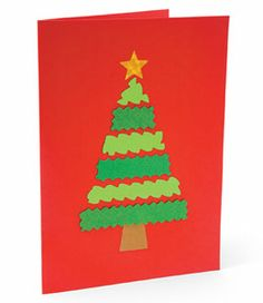 Dozens of homemade Christmas cards the whole family will love to create together. Show your loved ones you care with Christmas cards from Disney Family! Homemade Christmas Tree, Christmas Card Crafts, Christmas Cards To Make, Christmas Activities, Kids Christmas, Handmade Christmas, Childrens Christmas, Holiday Cards, Simple Christmas