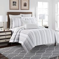 American Beige Cotton Coverlet Embroidery Brief Stripe Quilting Quilts Bedspread Unique Bed Cover Bedding 3pcs King Size 230x250