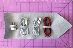 A Fashionable Way to Roll Up Your Cords via Brit + Co.