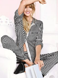 Browse women's pajamas to find endless sleepwear styles. Relaxed Outfit, Satin Pajamas, Sexy Bra, Pajamas Women, Women Lingerie, Everyday Fashion, Lounge Wear, Fashion Models, Style Me