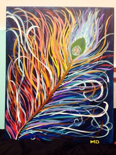 Canvas art #feather