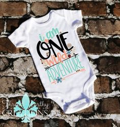 a07467cb Items similar to One Wild Adventure T-Shirt - One Year Old Flower Birthday  Top - Girl B-Day Party Tee - Short Sleeve Shirt - Vinyl - Age - Child Party  on ...