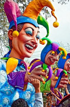 One of the floats in the Rex Mardi Gras Parade, New Orleans, LA
