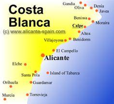 Costa Blanca: Alicante, Calpe, Benidorm, Javea & Denia