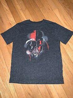 Boys Shirt sz L STAR WARS Black DARTH VADER//Red Saber 100/%Cotton Long Sleeve NWT