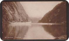 Troldfjord i Nordland fylke . D/S Neptun. Utg Stenders Forlag