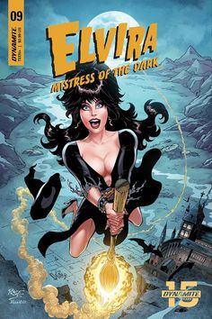 Elvira Mistress of the Dark cover by John Royle Modern Day Witch, Witch Drawing, Gothic Fantasy Art, Horror Comics, Horror Icons, Comic Book Covers, Mistress, Halloween, Cover Art