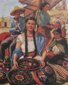 Mexican Calendar Girls the golden age of calendar art: A wonderful history and pictures book by the author Angela Villalba Mexican Artwork, Mexican Paintings, Mexican Folk Art, Girl Paintings, Mexican Style, Hispanic Art, Latino Art, Mexican Heritage, Mexico Art