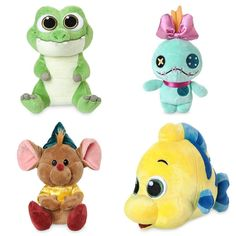 The new Disney Animators Collection plush toys are now available online at @disneystore #disney #disneyanimatorscollection #animatorscollection #ticktock #peterpan #scrump #liloandstitch #gusgus #cinderella #flounder #littlemermaid #disneystore