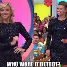 Tiffany Coyne and Amber Lancaster sizzles in Dress the Population. Who wore it better? ✨👗 @tiffanylcoyne @letsmakeadealcbs @amberlancaster007 @therealpriceisright #meme #dressthepopulation #sequindress #bodycondress #longsleevedress #minidress #miniskirt #fashion #cbs #tiffanycoyne #letsmakeadeal #lmad #amberlancaster #glamber #thepriceisright #priceisright #tpir #instafashion #whoworeitbetter