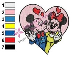 Mickey Mouse Cartoon Embroidery