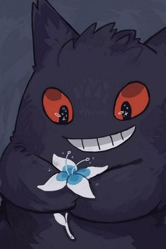 """rinnai-rai: """" Made a gengar phone background for anyone who wants to use it c: """" for some reason this is my most popular post? is it because of the flower? Gengar Pokemon, Pokemon Fan, Cute Pokemon, Pikachu, Pokemon Original, Ghost Type Pokemon, Arte Horror, Fan Art, Pokemon Pictures"""
