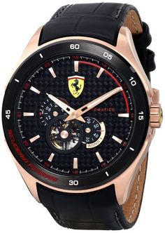 Scuderia Ferrari 0830099 Mens Gran Premio Automatic Watch - The Watch Studio Amazing Watches, Beautiful Watches, Cool Watches, Watches For Men, Wrist Watches, Dolce And Gabbana Watches, Ferrari Watch, Sporty Watch, Fine Watches