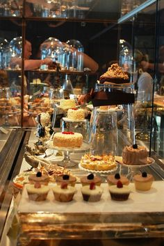 The display cases at Brown Hound Bakery in Drogheda show off co-owner Jeni's impeccable style! Bakery Display Case, Pastry Display, Display Cases, Bakery Shops, Cheese Shop, Pastry Shop, Bread And Pastries, Dessert Buffet, Restaurant