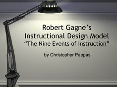 "Robert Gagne's Instruction Design Model; ""The Nine Events of Instructions"" by Christopher Pappas via slideshare"