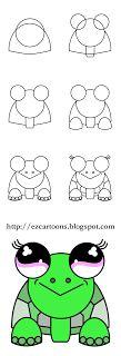 Easy To Draw Cartoons How A Dragon Square 1