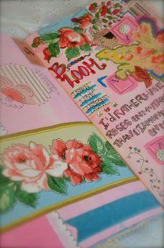 art journal inspiration - Original pinner sez: I'd love to journal like this. Kim's page from a Pam Garrison journaling class...