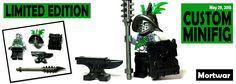 Get the Limited Edition Mortwar Minifigure #lego #Minifigure #BrickWarriors #customlego #mortwar #minifigs #curseofthemoira #saxataylor #legoweapons #books #novels