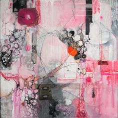Lesley Clarke abstract painting (Graffiti series)