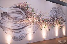 多层纱幔褶皱背景婚礼-国外案例-DODOWED