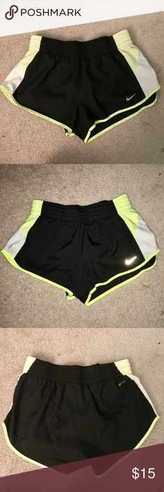 NIKE dry fit workout shorts Lightly worn Great condition Short shorts  Built in underwear Comfortable  Perfect for running and working out Nike Shorts