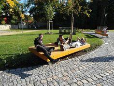 Park roku 2013 - 1. místo   SZUZ Park Landscape, Outdoor Furniture, Outdoor Decor, Sun Lounger, Parks, Garden, Ideas, Chaise Longue, Garten