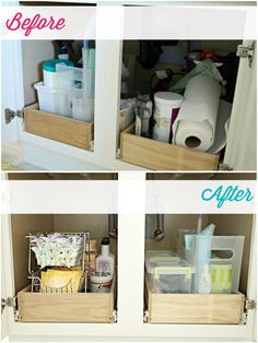 IHeart Organizing: Monthly Organizing Challenge: Organizing Under the Bathroom Sink