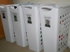 Super simple laundry system for a big family.