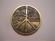 1st Annual GeoWoodstock 2003 Commemorative Geocoin ~ Unactivated ~ Louisville