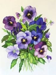 Image result for purple floral postcard