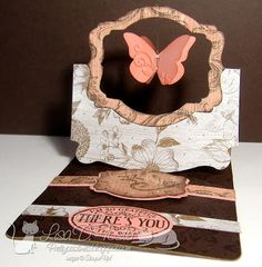 pop up card w/ butterfly Butterfly Crafts, Paper Crafts, Paper Paper, Easel Cards, Stampin Up, Card Ideas, Lisa, Card Making, Shapes