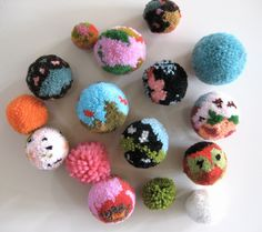 colorful pompoms