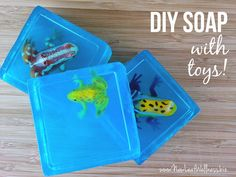 How to make homemade glycerin soaps with toys inside. Easy to make and so cute!