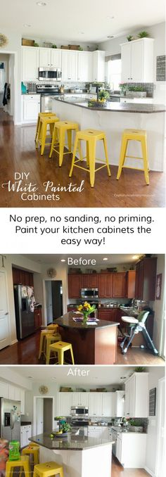 How to paint Kitchen Cabinets white with no prep using chalk paint powder., DIY and Crafts, How to paint Kitchen Cabinets white with no prep using chalk paint powder. Hands down the easiest way to paint cabinets and furniture! Kitchen Cabinets Upgrade, Painting Kitchen Cabinets White, Diy Cabinets, Kitchen Paint, Kitchen Redo, Painting Cabinets, New Kitchen, Kitchen Design, White Cabinets