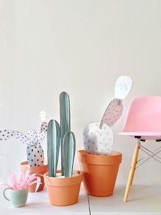 DIY // Cardboard Cacti. | The Fifth Watches // Minimal meets classic design: www.thefifthwatches.com