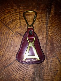 a429ec6aa50 ETIENNE AIGNER VINTAGE Leather and Brass Key Ring