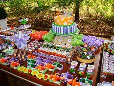 Festa de aniversário infantil, tema Pic nic.