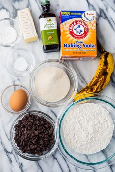 If you like banana bread, you'll love these Banana Chocolate Chip Cookies. They are a great way to use up overripe bananas and have a soft cake-like texture Banana Chocolate Chip Cookies, Simply Organic, Overripe Bananas, Cookie Exchange, Cooking Recipes, Easy Recipes, Banana Bread, Delicious Desserts, Aldi Shopping
