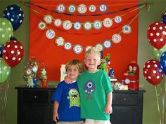 LOVE this Monsters party from Polkadots and Pirates :)