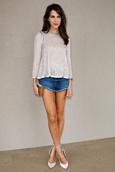 Sweet Silver and Denim Shorts | Caroline Sieber