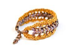 bracelet smokey lavender jersey honey gold cotton silk von gudbling, €36,00