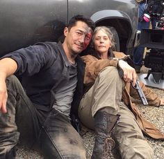 "The walking dead, season 6, episode 15 ""East"" BTS"