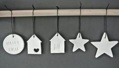 ornamenten van klei voor in de Kersttijd