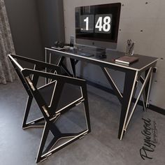 Smart Furniture, Deco Furniture, Metal Furniture, Furniture Design, Table And Chairs, Wood Table, Desk Inspiration, Sewing Table, Garden Design Plans