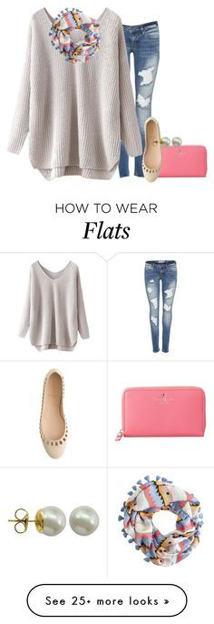 """""""☮"""" by pumpkinsandprep on Polyvore featuring J.Crew, Kate Spade and Majorica"""