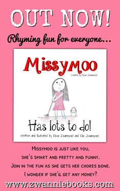 MISSYMOO Has lots to do! OUT NOW on Amazon in Kindle and Paperback format! Large Prints, Childrens Books, Kindle, Author, Writing, Amazon, Funny, Children's Books, Amazon Warriors