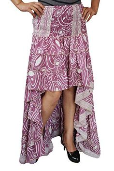 6648fc822d Belly Dance Skirt, Chic Halloween, Hi Low Skirts, Sari Fabric, Casual  Party, Bohemian Fashion, Bohemian Style, Boho Chic, Pink Ladies