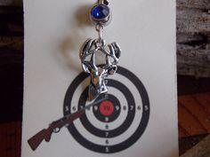 Jewelry - Navel ring - belly rings -Shot gun shell -Deer Charm -gun shot shell bullet. $16.95, via Etsy.