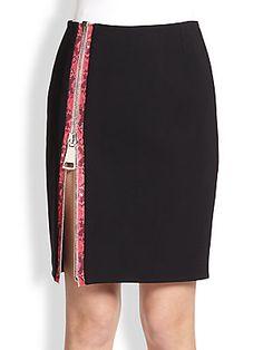 Christopher Kane Side-Zipper Skirt
